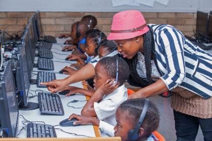 Teacher Children Computers